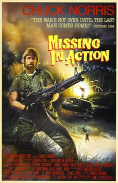 "Canvas Print: Chuck Norris In ""Missing In Action"" Vintage Movie Poster seen Film D'action, Bon Film, Film Serie, Action Movie Poster, Original Movie Posters, Action Movies, 1984 Movie, Movie Tv, 80s Movies"