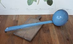 Vintage Enamel Ladle, Farmhouse,Rustic Display, Rustic Kitchenware, Retro, Boho by Route46Vintage on Etsy
