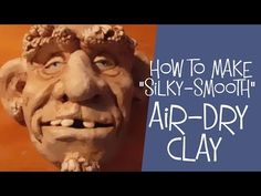 """How to make air dry clay – my famous """"silky-smooth"""" DIY recipe has become one of the most popular art recipes on my website. Use it to create permanent, strong, long-lasting sculptures. Making Paper Mache, Paper Mache Clay, Paper Mache Crafts, Paper Mache Sculpture, Paper Clay, Clay Crafts, Paper Art, Homemade Clay, Diy Clay"""
