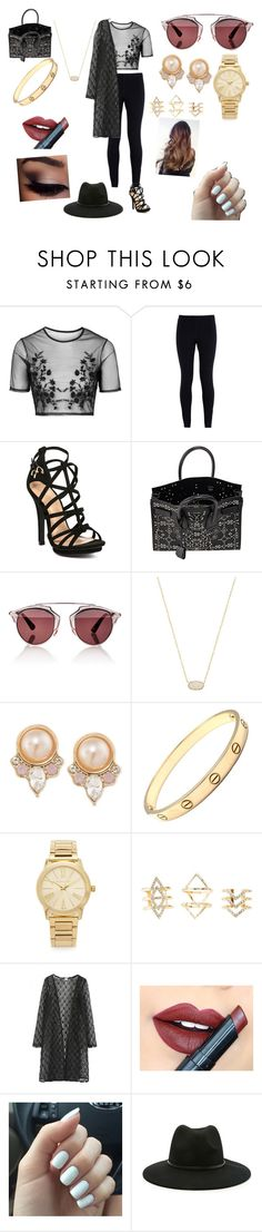 """Untitled #147"" by michellelopez5x on Polyvore featuring Topshop, NIKE, Yves Saint Laurent, Christian Dior, Kendra Scott, Carolee, Cartier, Michael Kors, Charlotte Russe and Fiebiger"