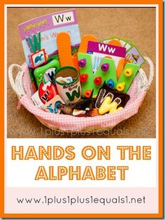 Hands on the Alphabet ~ Ideas for exposing young children to letters and the sounds they make