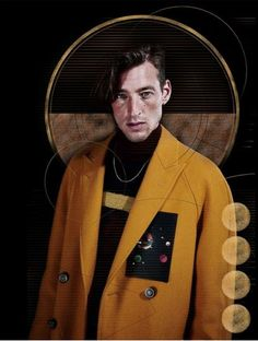 AW15-16 menswear collections styled around the 'Retro Space theme' by Ellen Mirck for Thefashionisto magazine. Collections by Ermenegildo Zegna, Canali, Lanvin, Hogan, Trussardi and others.  Starring top model Joel Frampton. Styling & Art direction by Ellen Mirck.