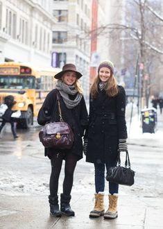 Winter Style // All-black winter outfit idea.