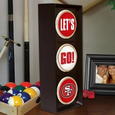 "San Francisco 49ers 21.5"" x 12"" Corrugated Metal Wall Art ..."