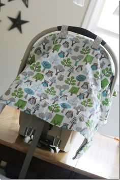 car seat blanket tutorial.  http://workmanfamily.typepad.com/our_life/2010/08/car-seat-blanket-tutorial.