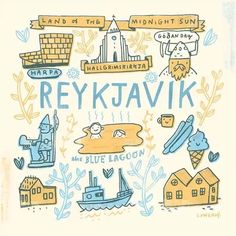 3,531 отметок «Нравится», 33 комментариев — Mike Lowery (@mikelowerystudio) в Instagram: «My Reykjavik print is now available at  paperghostpress.com !  #paperghoststudio #traveljournal…»