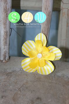 Ribbon Flower Hair Clips  Many to choose from by south4winter, $5.00