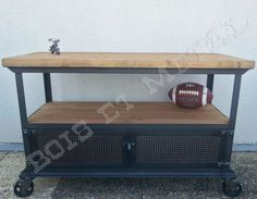 1000 ideas about meuble tv roulettes on pinterest table rallonge steel - Table tv a roulettes ...