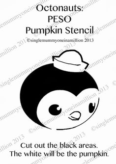 One In A Million: Octonauts: Peso Pumpkin Stencil Halloween Birthday, Baby Halloween, Holidays Halloween, Halloween Ideas, Halloween 2020, Little Kid Shows, Kids Shows, Pumpkin Stencil, One In A Million