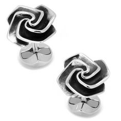 Sterling Silver Origami Rose Cufflinks Ox and Bull #OxandBull