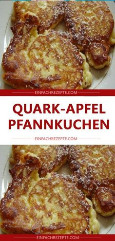 Quark-Apfel-Pfannkuchen 😍 😍 😍 Quark and apple pancakes 😍 😍 😍 Best Pancake Recipe Fluffy, Pancake Recipe With Yogurt, Homemade Buttermilk Pancakes, Easy Vanilla Cake Recipe, Clean Eating Pancakes, Dairy Free Pancakes, Banana Recipes, Healthy Dessert Recipes, Desserts