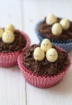Easter Chocolate Nests Cupcakes