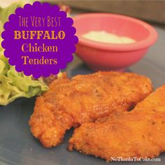 The Very Best Buffalo Chicken Tenders | No Thanks to Cake (Light Version)