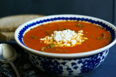 Winter Tomato soup with Swiss Chard - good for any cold weather day
