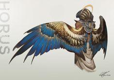 Dare (@dahrien_) / Twitter Fantasy Character Design, Character Design Inspiration, Character Art, Fantasy Creatures, Mythical Creatures, Anatomy Art, Eye Anatomy, Creature Concept, Egyptian Art