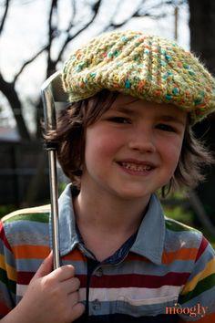 Big Boy's Cabled Golf Cap free crochet pattern on Moogly at http://www.mooglyblog.com/boys-cabled-golf-cap-pattern/