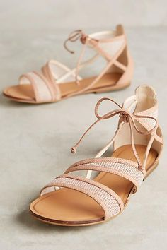 Sandals Summer - Being Bohemian: So New. - There is nothing more comfortable and cool to wear on your feet during the heat season than some flat sandals. Cute Sandals, Flat Sandals, Cute Shoes, Me Too Shoes, Shoes Sandals, Crazy Shoes, Summer Shoes, Summer Sandals, Fall Shoes