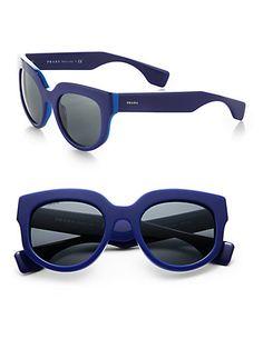 Prada - Oversized Square Sunglasses - Saks.com Lunettes, Lunettes De Soleil,  Prada 990cc5afc3dd