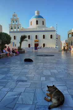 Church of Panagia of Platsani at Oia-Santorini Greece