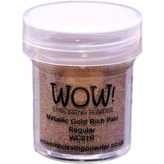 WOW Embossing Powder GOLD RICH PALE Regular WC01R at Simon Says STAMP! 3.19