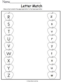 Practice identifying upper and lowercase letters. Draw a line to match the letters R to Z. This is a fun fall activity for preschool and kindergarten students. Letter R Activities For Kindergarten, English Worksheets For Kindergarten, Fall Preschool Activities, Preschool Writing, Kindergarten Lessons, Alphabet Worksheets, Kindergarten Worksheets, Upper And Lowercase Letters, Grande Section