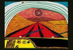 626 The Way to You, 1966 by Friedensreich Hundertwasser (1928-2000, Austria)