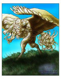 "Vexed Pegasus  By ""Black UniGryphon""  Kandice Kathleen Zimbleman"