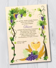 Printable First Holy Communion Invitation/E-Card/First Holy ...