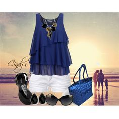 """""""Cute Summer oufit, with NaRaYa Shoulder Bag at BagCache.com"""" by cindycook10 on Polyvore"""