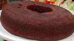 Torta volcán de chocolate circular