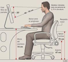 medidas ergonomicas para un escritorio - Pesquisa Google