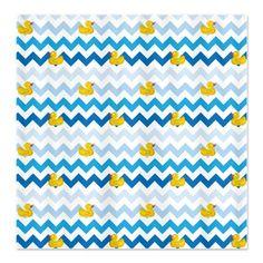 Duck Parade Chevron Pattern Shower Curtain