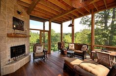 House Design: Classic Screened In Porch Decorations With Screen Porch Design And Screen For Porch, porch screen system, porch screens Home Design Decor, House Exterior, Porch Builders, Rustic House, House Design, Home Remodeling, Remodeling Trends, House Decor Rustic, Porch Design