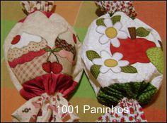 Lindos puxa-sacos. Com aplicação,quilt e todo forado.As cores podem variar de acordo com seu gosto. <br>Preço unitário.