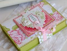 Fun little box to hold your handmade cards.  Great gift idea from Betsy