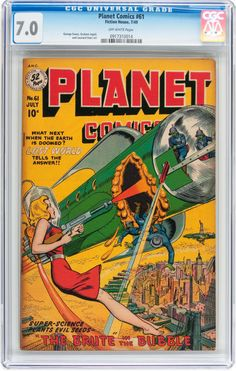 Golden Age (1938-1955):Science Fiction, Planet Comics #61 (Fiction House, 1949) CGC FN/VF 7.0 Off-whitepages.... Image #1