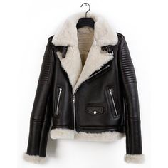 This looks warm. Winter Leather Jackets, Winter Jackets, Leather Jacket With Fur, Fall Winter Outfits, Autumn Winter Fashion, Silver Shorts, Aviator Jackets, Moda Casual, Fashion Killa