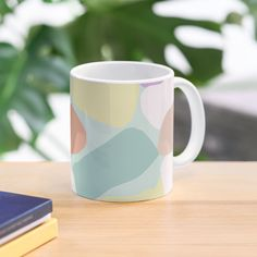 """""""Make it Bright pastel abstract artwork"""" Mug by camilaheart Pastel Colors, Colours, Abstract Print, Duvet Covers, Finding Yourself, Iphone Cases, Presents, Bright, Mugs"""