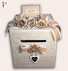 Rustic Handmade Wedding Card Box - Venue and reception decor (*Amazon Partner-Link)