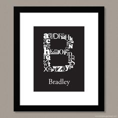 """Choose a colour, personalize it, and make it your own! """"Alphabet Initial Prints"""" by Simple Sugar Design Upper And Lowercase Letters, Lowercase A, Simple Sugar, Shape Of You, Alphabet, Initials, Colour, Shapes, Make It Yourself"""