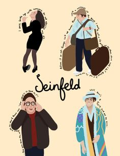 Seinfeld illustration poster with quotes