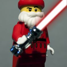 lego red old man sword