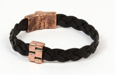 Labor Day Holiday Inspiration - Bricklayer Men's Braided Flat Leather Bracelet   In this simple yet handsome design we used the 10 Braided Flat Leather and the new Brick work flat slider.    Click link below to see all project components: http://www.antelopebeads.com/Bricklayer-s/3443.htm