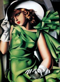 Painting of Tamara de Lempicka | Art Decó | Women Portrait #Erotic #Bisexual #Desnudos #Abstracción @deFharo