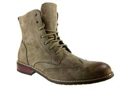 Delli Aldo Men's 828A Wing Tip Ankle High Boots, Brown, 7.5 - Brought to you by Avarsha.com