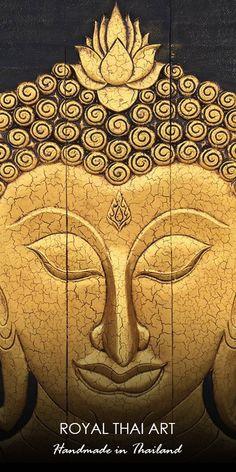 Buddha Paintings, Buddha Artwork, Monk Painting for sale From Thailand Buddha Artwork, Buddha Wall Art, Buddha Painting, Buddha Canvas, Ghost Cartoon, Thai Art, Panel Wall Art, Living Room Paint, Online Gallery