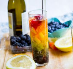 Rainbow Sangria--this would be cool for St. Patrick's Day too:)