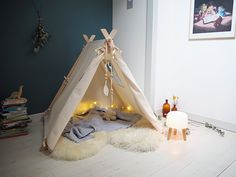 Perfect personal room decoration for you baby! Bedroom Lamps, Baby Bedroom, Baby Room Decor, Girls Bedroom, Bedroom Decor, Childrens Bedroom, Kids Tents, Teepee Kids, Teepee Tent