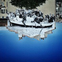 Ausstellung in Baden Baden Street Art von JR - freundederkuenste. Street Art Photography, Paint Photography, Street Gallery, Art Gallery, Photographie Street Art, Marseille France, Jr Art, French Street, Graffiti Painting