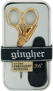 "Gingher G-ST 3.5"" inch Stork Embroidery Thread Cutting Scissors $16.99"